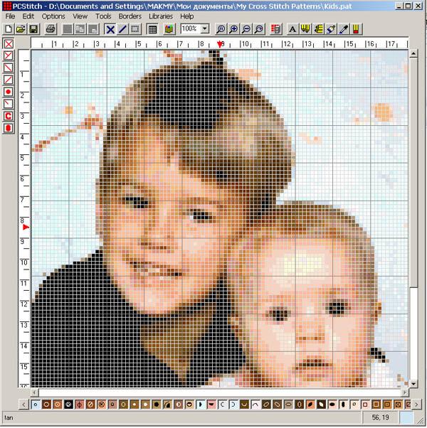 Как сделать схему для вышивки из фото
